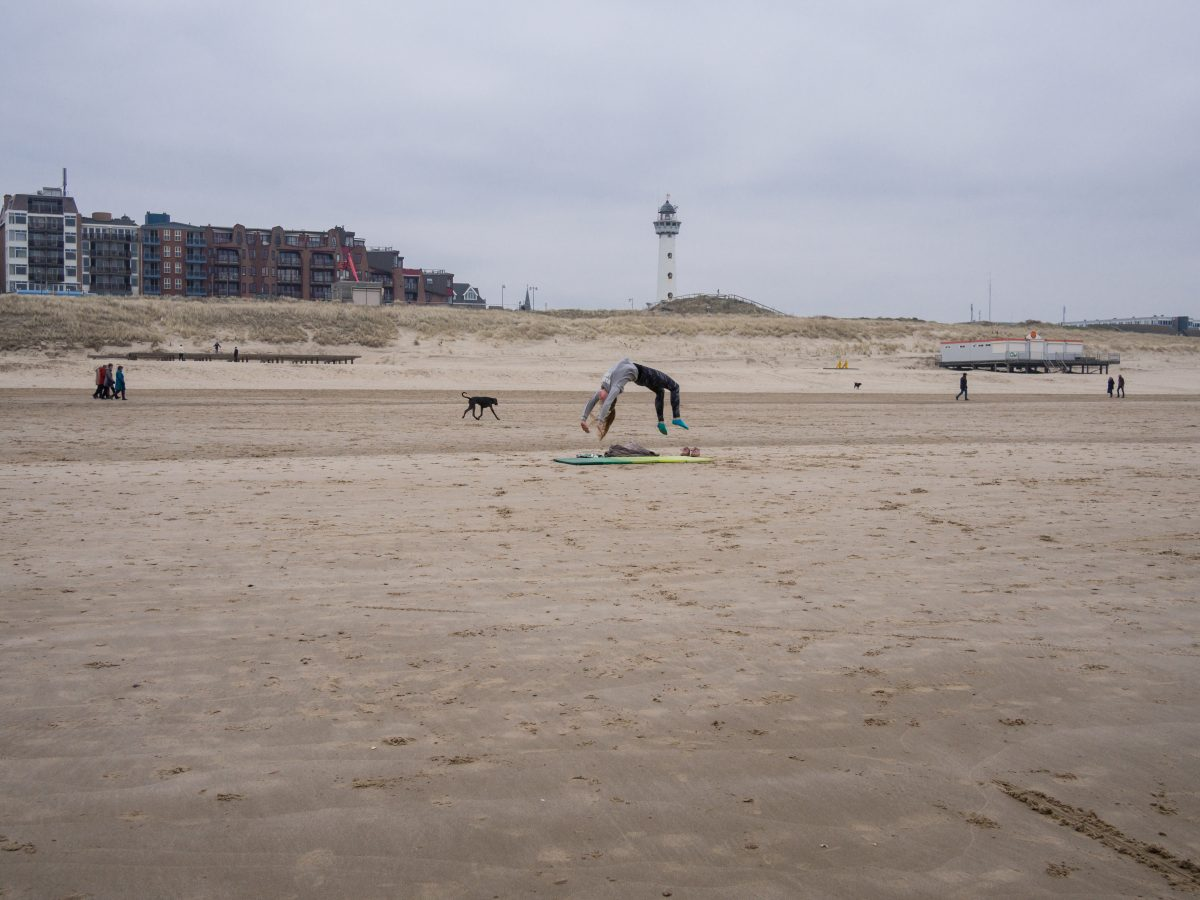 Back flip on the beach, Egmond aan Zee
