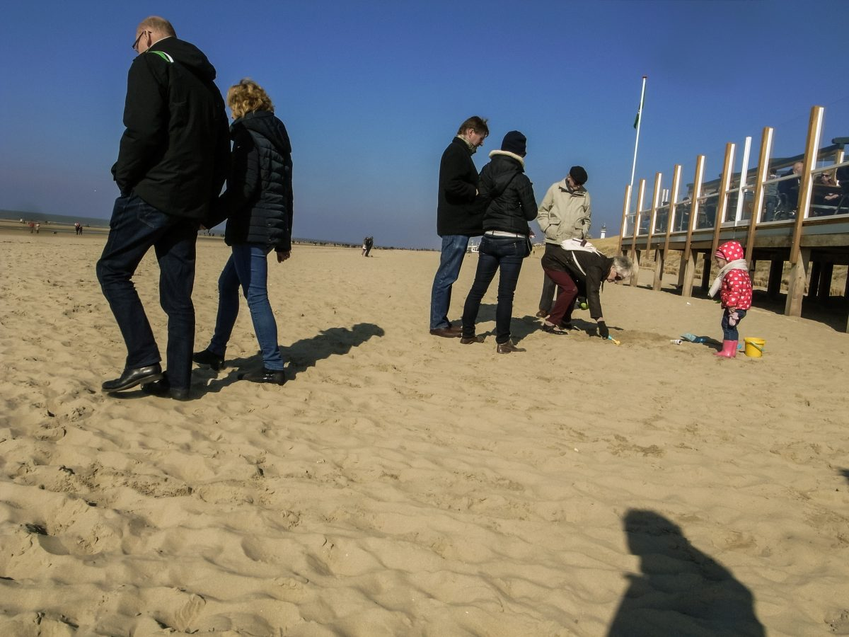 Playing in the sand, Egmond aan Zee