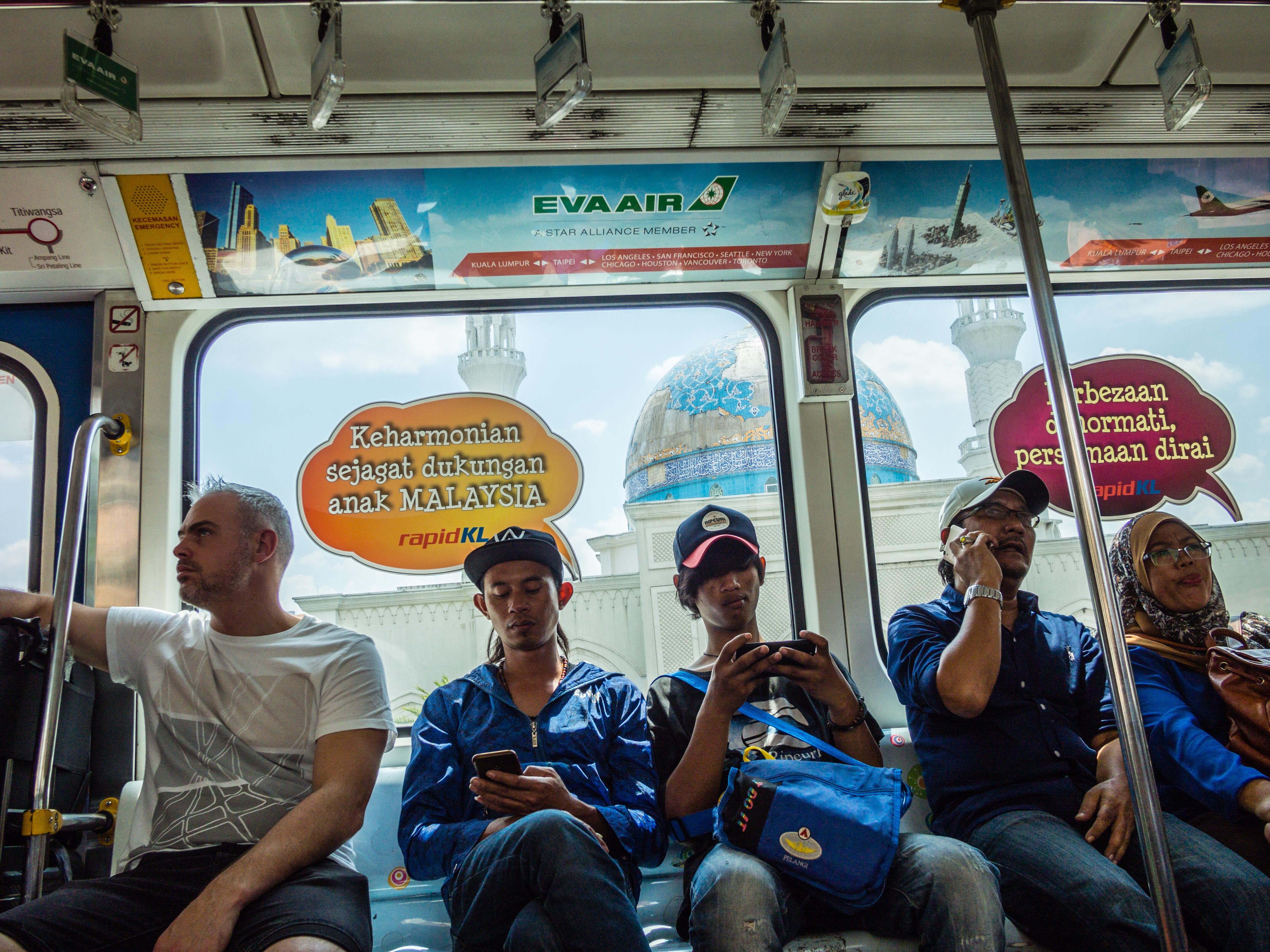 In the monorail, Kuala Lumpur, Malaysia