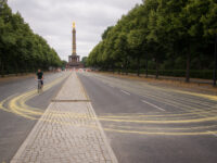 Tiergarten cyclist